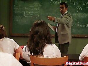 Creampied cooperate student fucks teacher