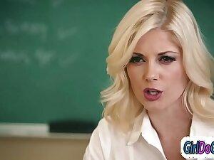 Teacher facesitting a students mom everywhere get her higher grades