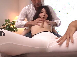Strong threesome and backwards orgasms for Rie Tachikawa