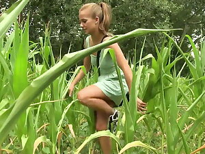 Young skinny teen girls like to play outdoors - inverted gals