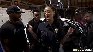 Police Officer Eliza Ibarra Deepthroats Everlastingly Big Black Cock