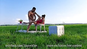 Teen Beauty Gina Gerson & Mr Henderson - Hot Sex On high Rub-down the Grassland