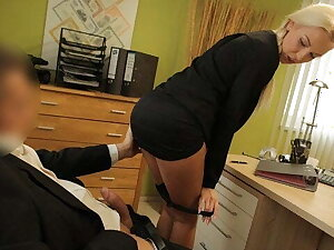 LOAN4K. Gorgeous lady has no choice so she gives herself to the loan agent