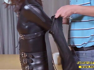 fejira com Catsuit girl is gagged in a variety of clash