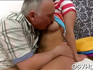 Young angel gives a blow to old ramrod