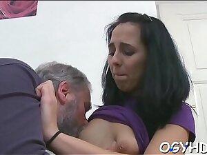 Young pussy filled by old shlong