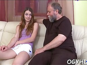 Horny old bloke teases young toddler