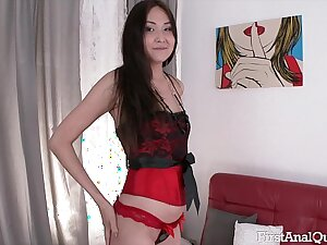 FIRSTANALQUEST.COM - FIRST TIME ANAL PORN WITH THE YOUNG & SEXY ALISA KIM