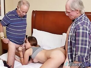 Beautiful Beloved Teen Spreads Stingy Pussy For Old Individuals