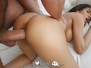Exotic4k Busty dark Shay Evans interracial fuck with big white gumshoe