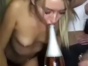 Small tits drink