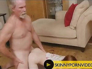 Old farts on skinny Redhead unladylike