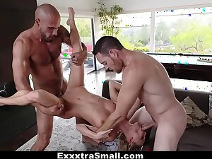 ExxxtraSmall - Hot Elfin Teen Fucked By Two Weighty Cocks