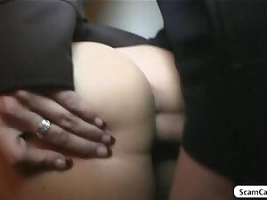 Blone girl Beata receives large letter and gets fucked in a public season