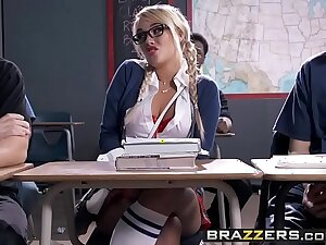 Vicious school girl (Alexis Monroe) gets spanked and  nuisance fucked - Brazzers