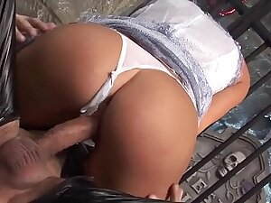 Stacey gets fucked hard but doesn't know anyone's spying on her from the coffin
